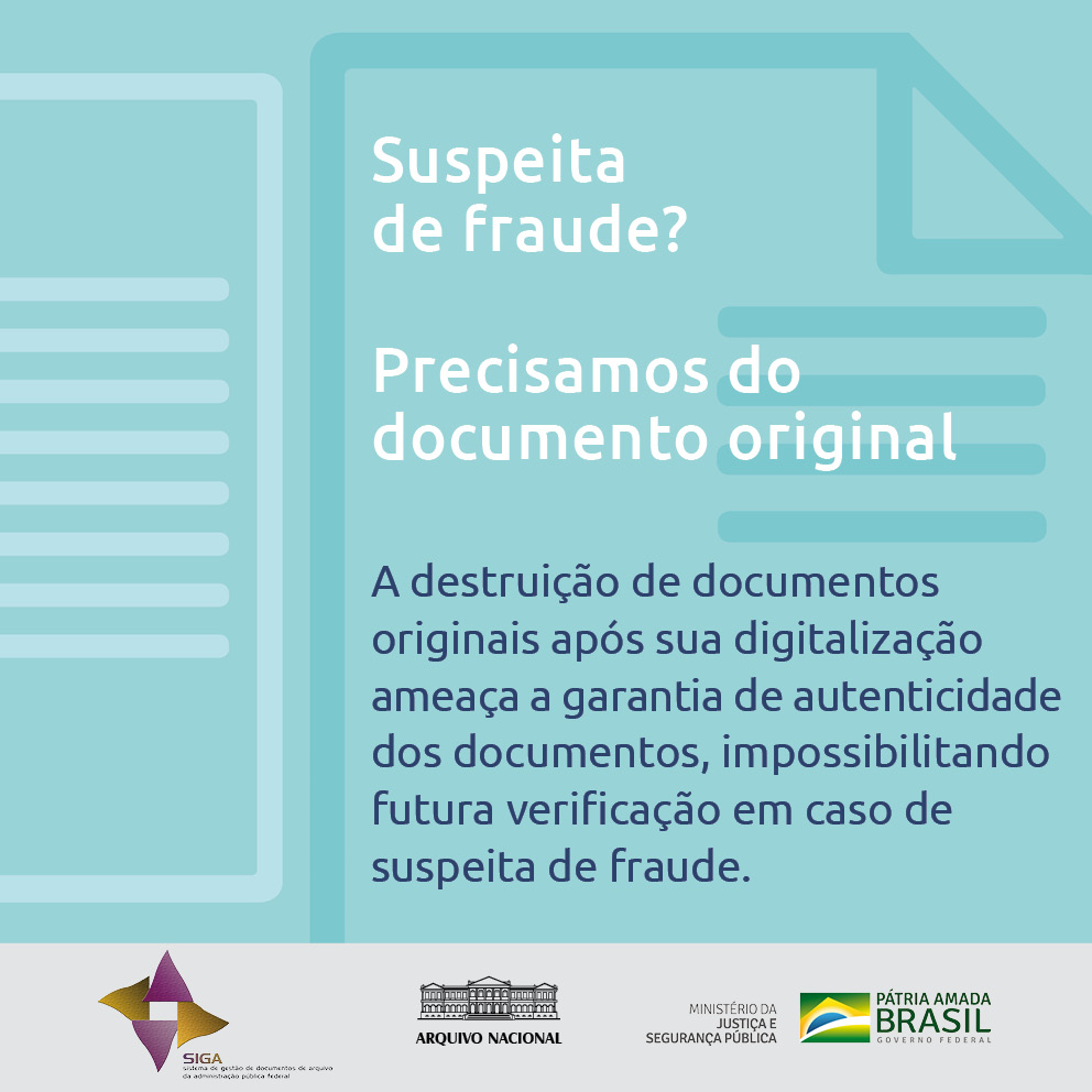 Suspeita de fraude? Precisamos do documento original