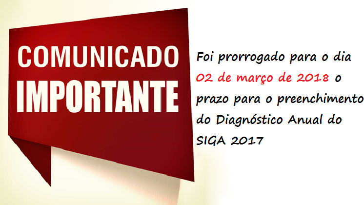 Diagnóstico Anual do SIGA 2017